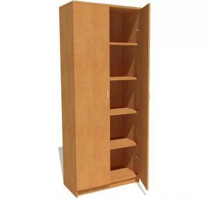 Фото Шкафы офисные Шкаф офисный для документов закрытый с распашными дверьми под заказ