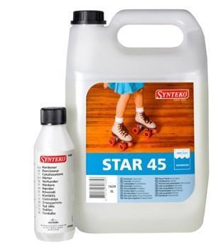 Лак паркетный двухкомпонентный SYNTEKO STAR 45  (Синтеко Стар) 5л