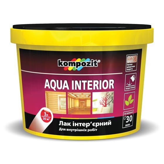 Лак интеръерний AQUA INTERIOR /глянцевий 0,75 л