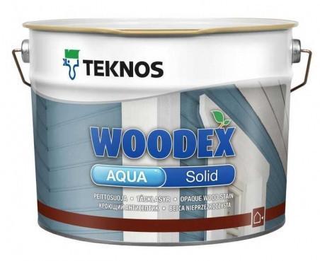 Кроющий антисептик TEKNOS Woodex Aqua Solid 0,9 л База 3 в темные тона