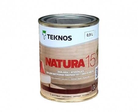 Лак для дерева мебельный акриловый TEKNOS Natura 15 полуматовый 0,9 л