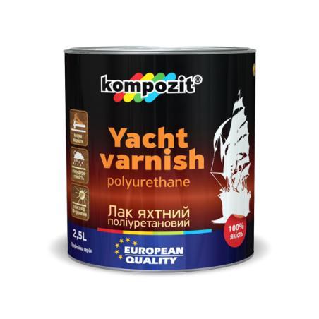 Яхтный лак полиуретановый YACHT VARNISH Kompozit Полуматовый 10л