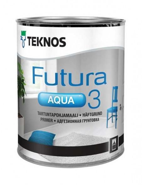 Грунт алкидный адгезионный водорастворимый TEKNOS Futura Aqua 3 0,9л белая