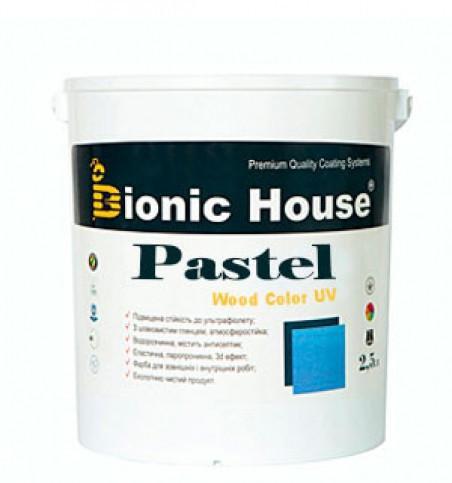 Краска лазурь для дерева акрилатная водоразбавляемая BIONIC HOUSE Pastel Wood Color 0,9 л Бэйлис