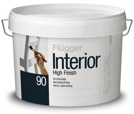 Акриловая интерьерная эмаль Flugger Interior High Finish 90 глянцевая 2.8л база 3/4