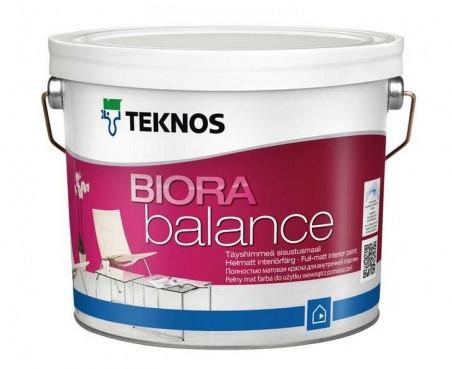 Краска акрилатная для стен и потолков TEKNOS Biora Balance 0,9 л База 3 в темные тона