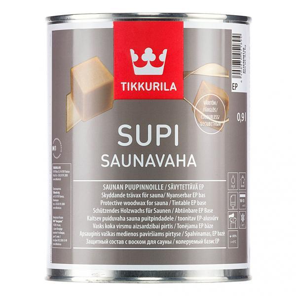 Защитный воск для сауны Супи Саунаваха Тиккурила (Supi Saunavaha Tikkurila) колеруется  0,9 л