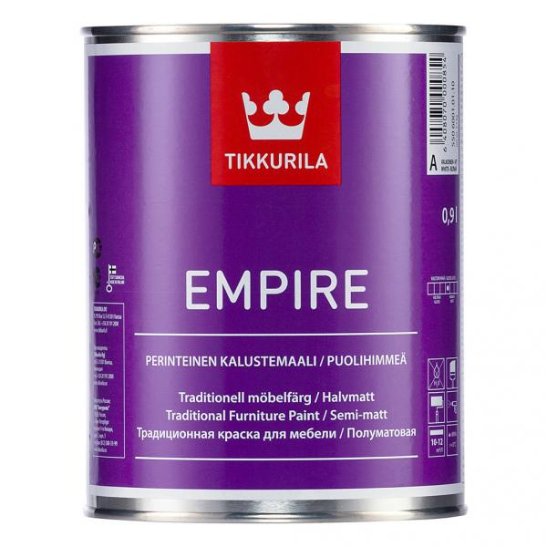Краска для мебели Эмпире (Empire Tikkurila )  алкидная база С  0,9 л