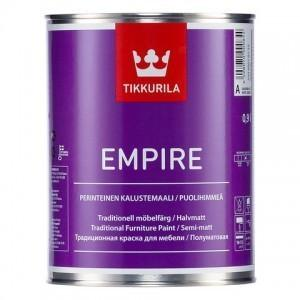 Краска для мебели Эмпире (Empire Tikkurila )  алкидная база А 0,9 л
