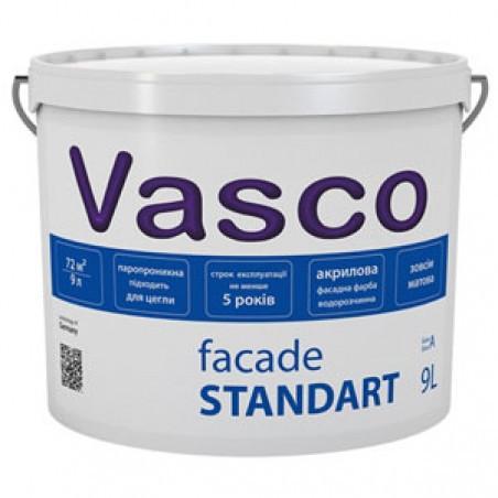 Акриловая фасадная краска Vasco Facade Standart 9л