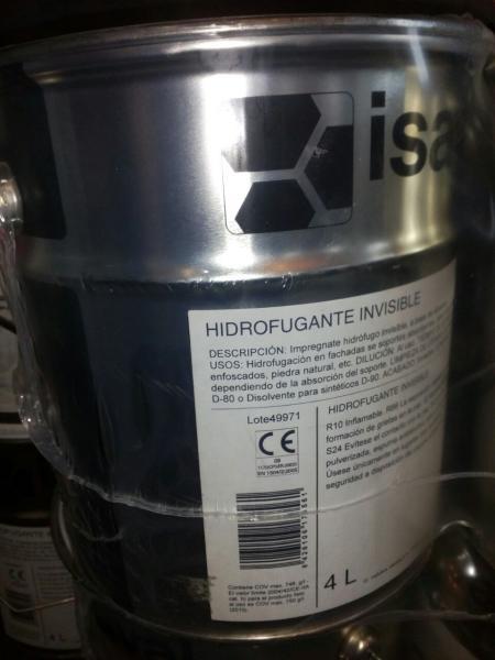 Гидроизолирующая пропитка Гидрофуганте ISAVAL  для пористых поверхностей 16л