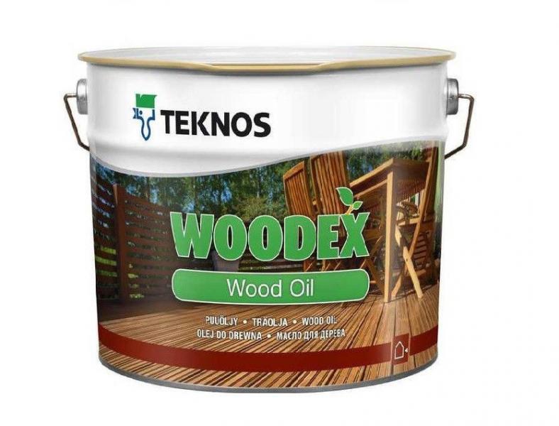 Масло для дерева террасное органо-разбавляемое атмосферостойкое TEKNOS WOODEX WOOD OIL 2,7л