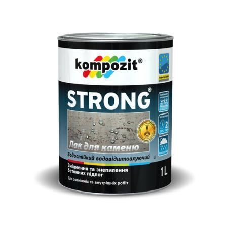 Фото Лаки краски, Покрытия для минеральных поверхностей, Лаки для камня и минералных поверхностей Лак для камня STRONG Kompozit 0,9 л