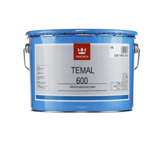 Темал 400- Temal 400 термостойкая краска силиконовая чёрная 10л