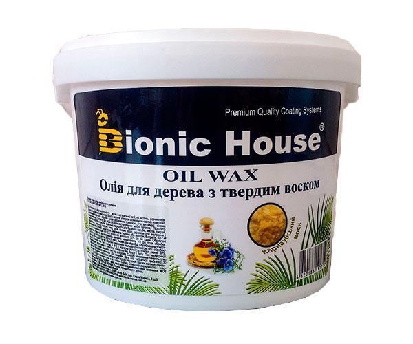 Масло льняное с карнаубским воском Bionic House 3 л