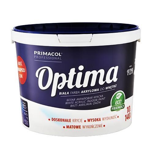 Краска интерьерная акриловая для стен и потолков Optima Primacol Польша 10л