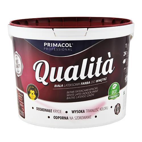 Краска интерьерная акриловая для стен и потолков Qualita Primacol Польша 10л