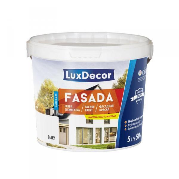 Краска фасадная акриловая атмосферостойкая Fasda LuxDecor  Польша 10 л