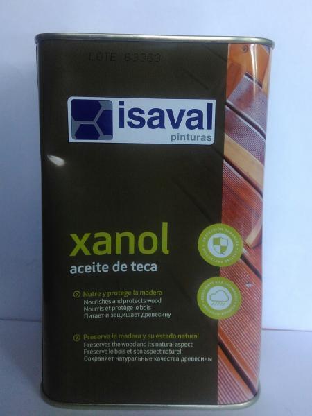 Фото Топ Сезонных Продаж Масло тиковое для террас и садовой мебели ISAVAL Xanol Aceite De Teca  2,5 л