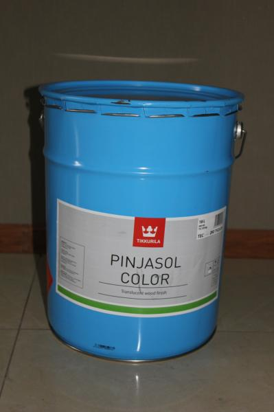 Лессирующий открытопористый лак антисептик для дерева 3 в1 Пиньясол  PINJASOL Тиккурила 18л
