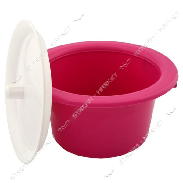 Горшок пластиковый детский с крышкой розовый