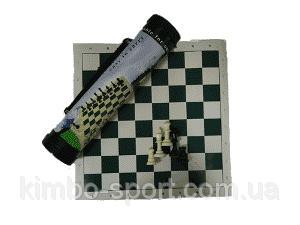 Шахматы в тубе,средние, доска - винил 43*43 см., фигуры пластик