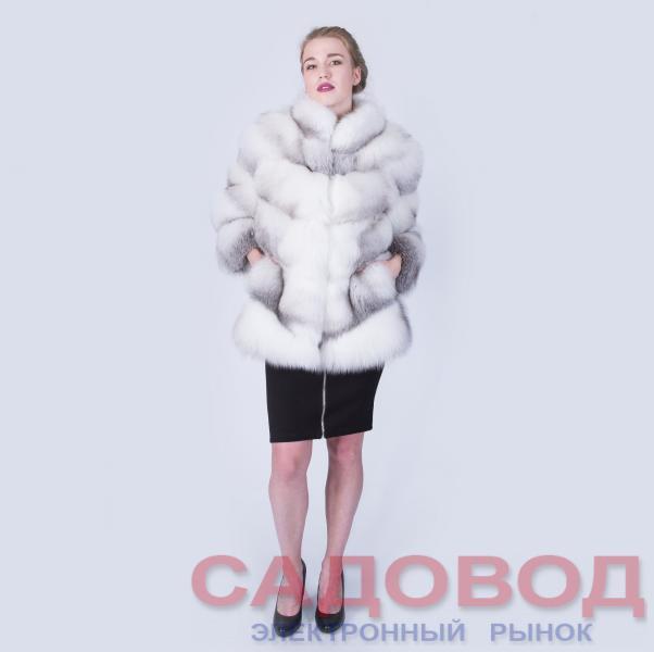 Шуба Fursini из полярной лисы Шубы из меха лисы на рынке Садовод
