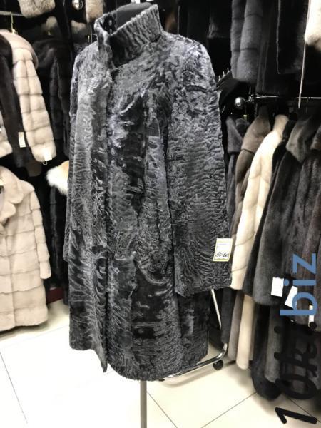 Пальто из каракуля, графит Шубы из каракуля и каракульчи в БП Румянцево