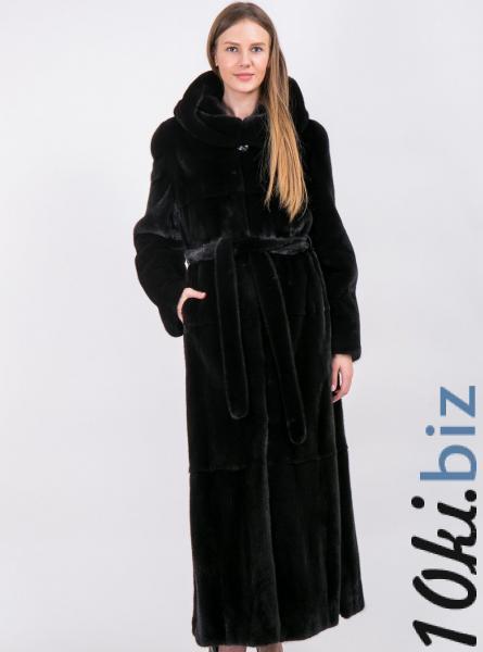Шуба из скандинавской норки черная Шубы норковые в Москве