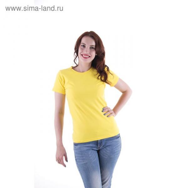 Футболка женская, размер 48-50 (L), цвет желтый (арт.VSE25prn)
