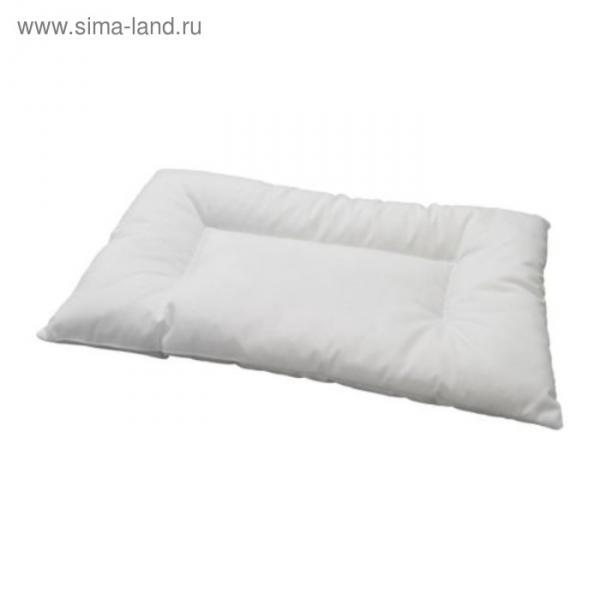 Подушка для новорожденных ЛЕН, размер 35х35 см, цвет белый