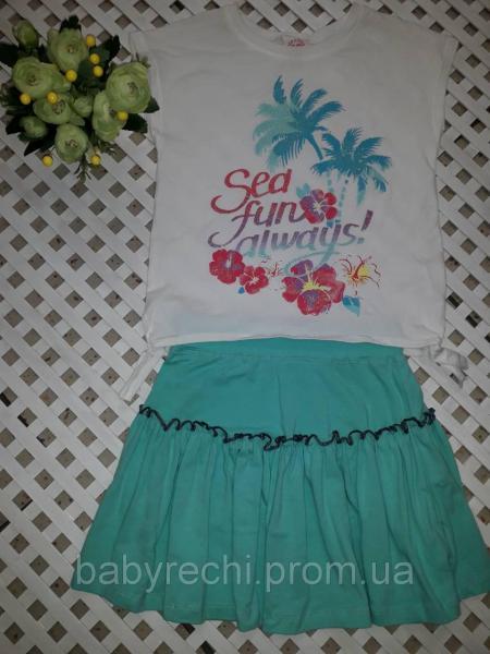 Летний комплект юбка и футболка 128