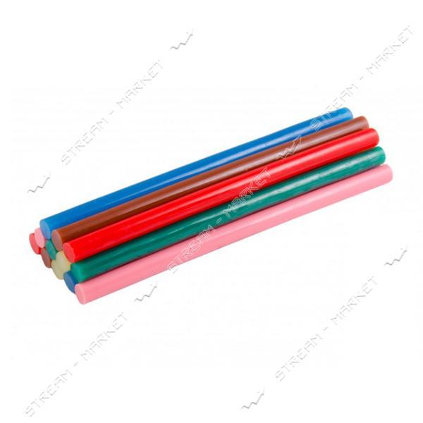 Стержни клеевые MASTERTOOL 42-0155 11, 2х200мм, 12шт, цветные