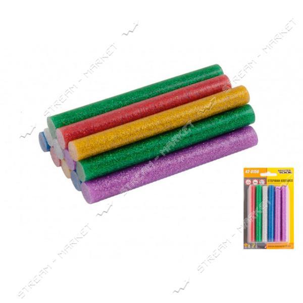 Стержни клеевые MASTERTOOL 42-0156 11, 2х100мм, 12шт, цветные перламутровые