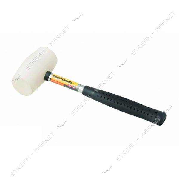 Киянка резиновая MASTERTOOL 02-1310 белая 225г металлическая рукоятка