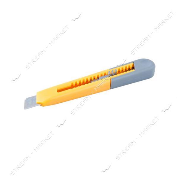 Нож MASTERTOOL 17-0321 18мм пластиковый, кнопочный фиксатор