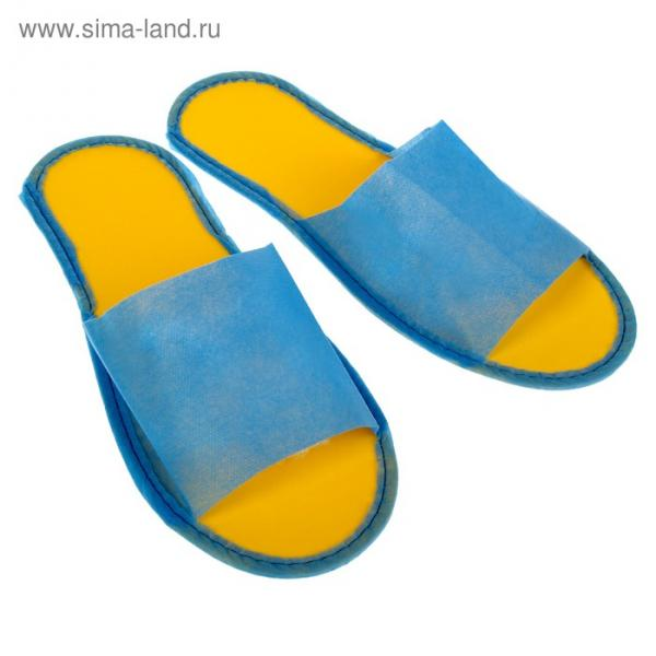 "Тапочки на подошве ""Эва"", жёлая подошва, 3 мм, 43 р-р"