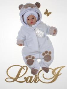 Демисезонный комбинезон для новорожденных белый