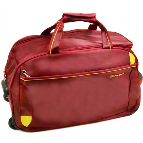Дорожная сумка на колесах Small Артикул 17501  бордовая