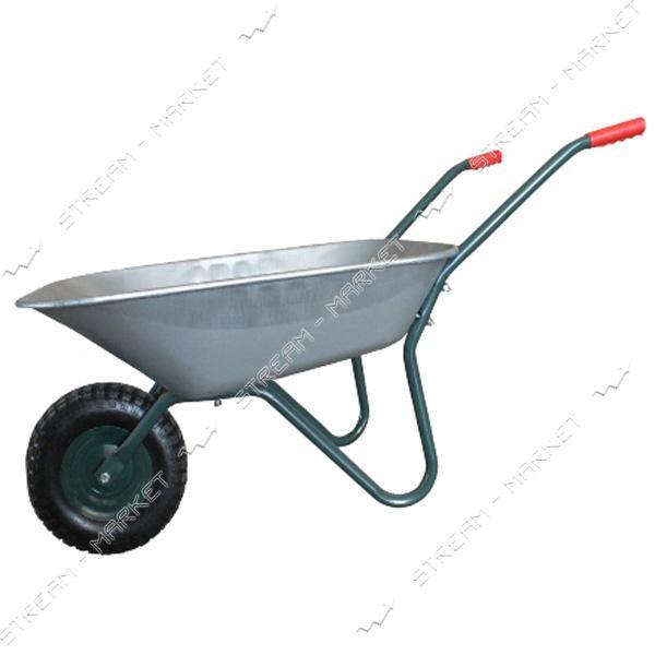 FORTE WB6407A Тачка садовая 1-одноколесная 120 кг, объем вода/песок 65/142 л, вес 11 кг