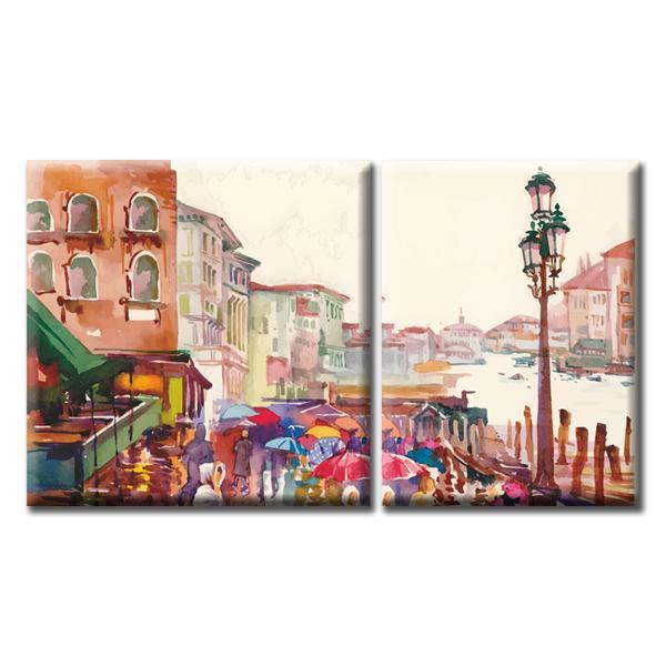 Модульная Картина Glozis Rain D-056 50 х 35 см + 50 х 50 см