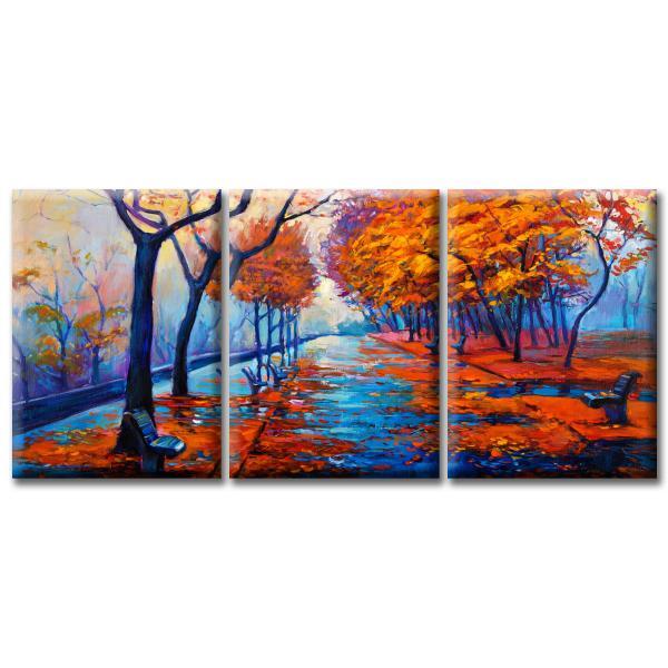 Модульная Картина Glozis Autumn Park D-058 50 х 35 см х 3 Картины