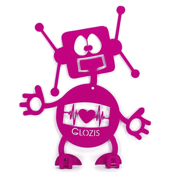 Вешалка настенная Детская Glozis Robot H-007 26 х 22см