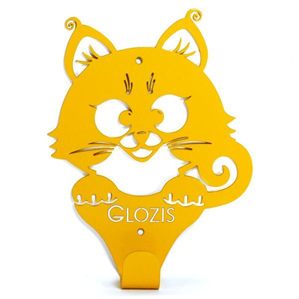 Вешалка настенная Детская Glozis Kitty Yellow H-017 17 х 13см
