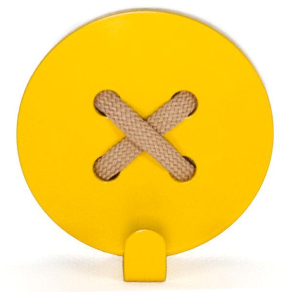 Вешалка настенная Крючок Glozis Button Yellow H-023 8 х 8см