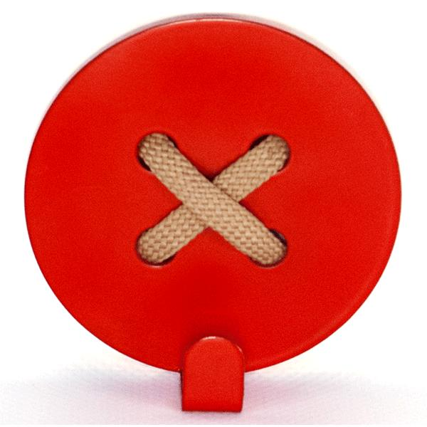 Вешалка настенная Крючок Glozis Button Red H-024 8 х 8см