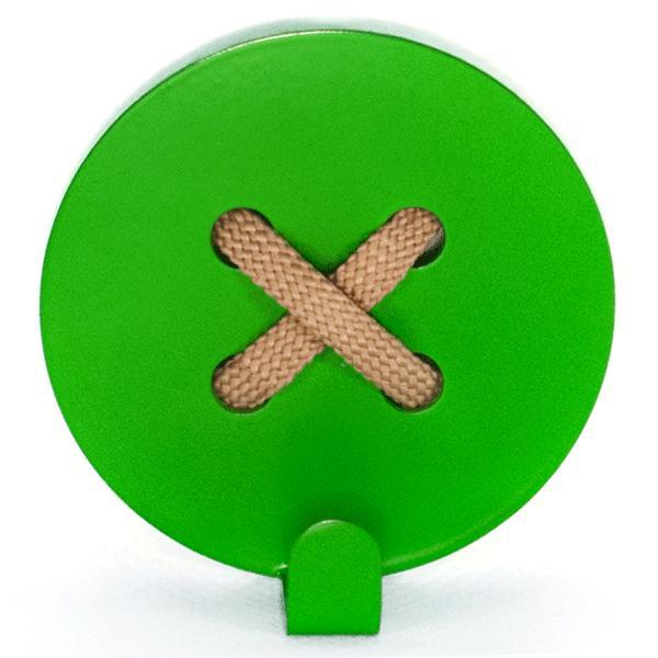 Вешалка настенная Крючок Glozis Button Green H-026 8 х 8см