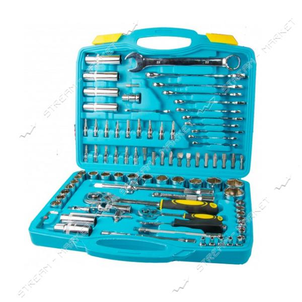 Набор насадок торцевых и ключей MASTERTOOL 78-7095 1/4 и 1/2 с трещеткой 24 зуба в кейсе 95шт