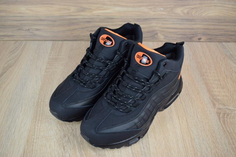 Фото  Nike Air Max 95 SneakerBoot Winter Black Orange (41-46)