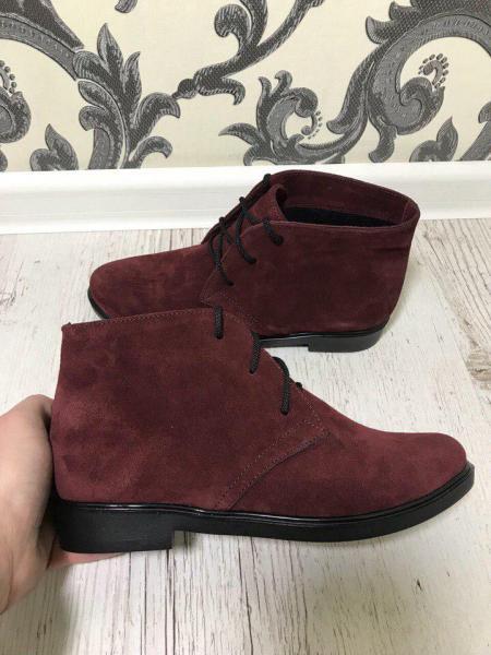 Замшевые ботинки 2018 37